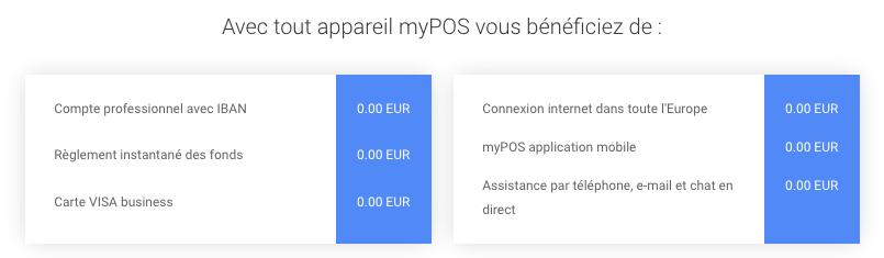 Fonctionnalités de MyPOS